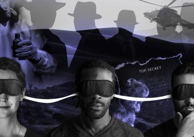 Morpheus Show UK blindfolded